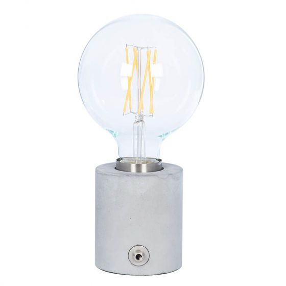 Concrete Bulb Holder Table Lamp