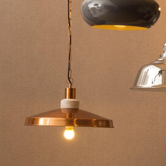 Retro Copper Finish Aluminium Pendant Light