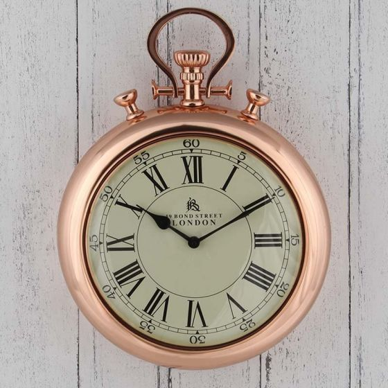Copper Stopwatch Wall Clock