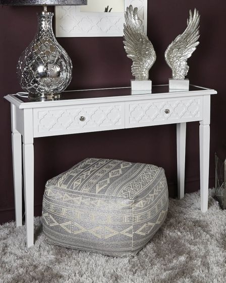 Costa White Console Table