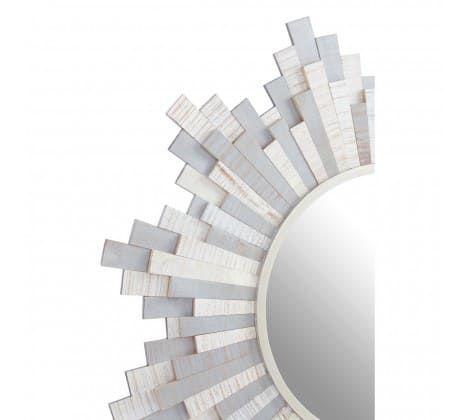 Crescencia Grey and White Wall Mirror