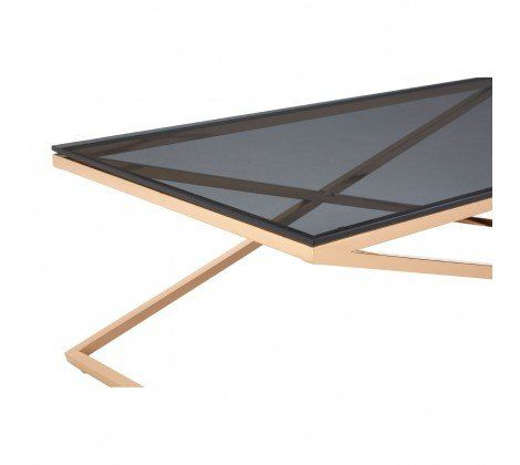 Criss Cross Gold Coffee Table