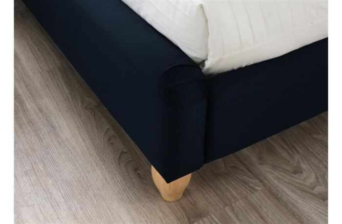 Crompton Deep Blue Fabric Bed Frames