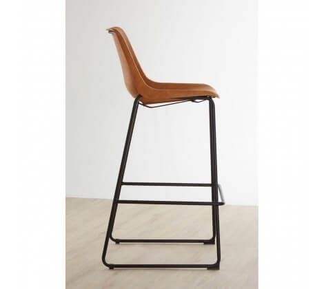 Dalton Brown Metal Bar Stool