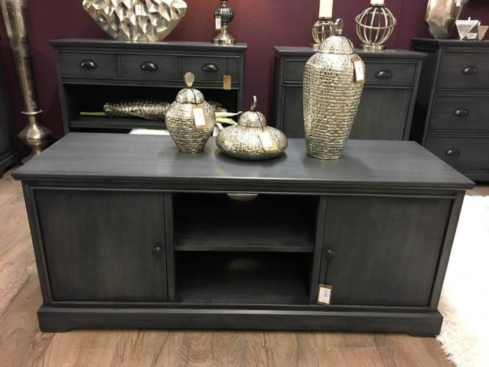 Charlie 2 Door Grey TV Unit