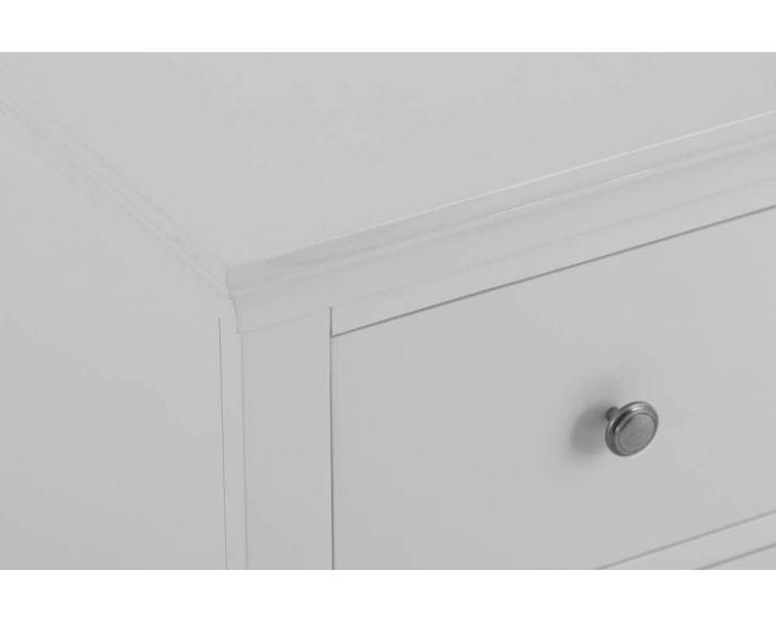 Edelmar Pine Grey 2 Drawer Bedside Cabinet