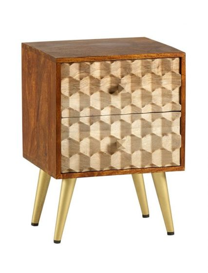 Edison 2 Drawer Side Table