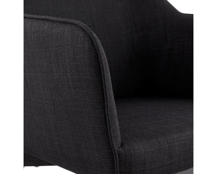 Ekberg Black Fabric Armchair