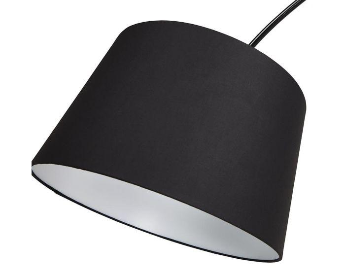 Elisabet Black Metal Arch Floor Lamp