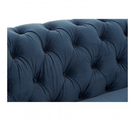 Ella 2 Seater Blue Velvet Sofa