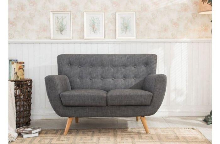 Fabric Scandinavian Style 2 Seater Sofa