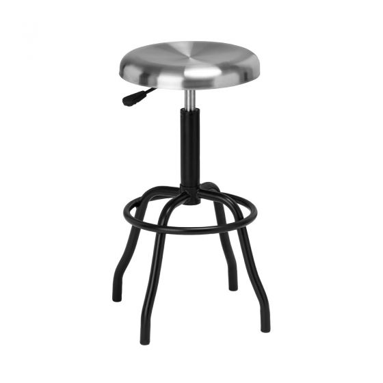 Factory Style Bar Stool - Black