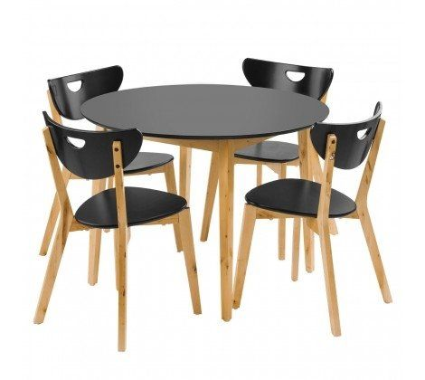 Fiesta Dining Set - Black & Birch