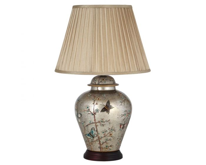 Floral Design Traditional Table Lamp with Shade