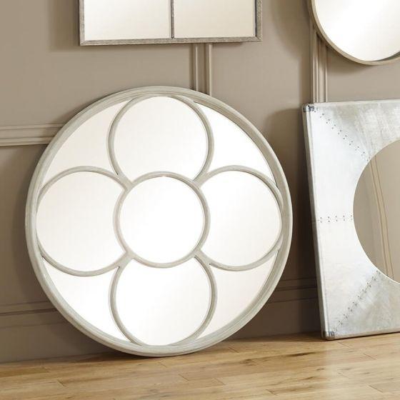 Floral Grey Wall Mirror