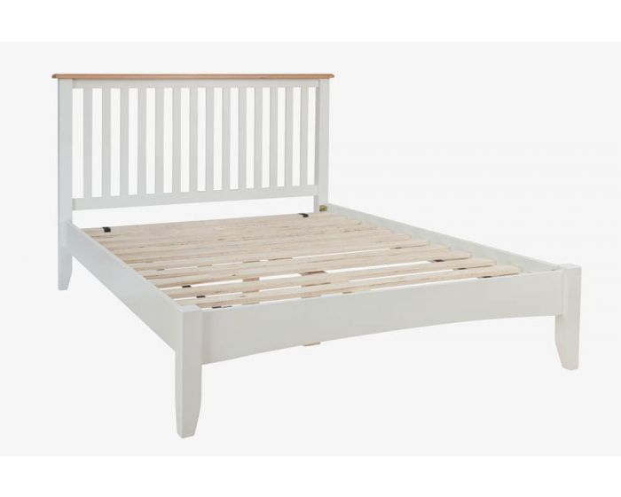 Gaetan Oak White Bed Frame
