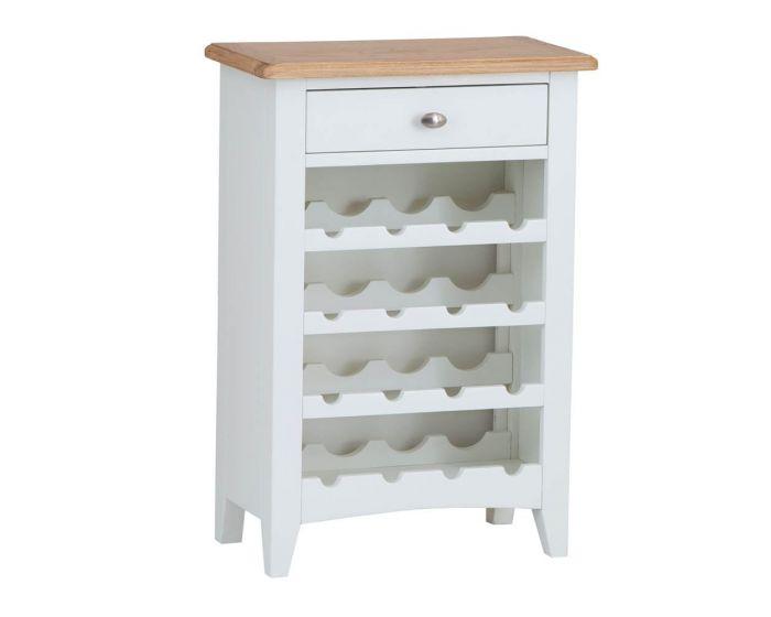Gaetan Oak Wine Cabinet
