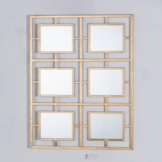 Gin Shu Gold 6 Mirror Metal Wall Mirror