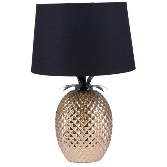 Gold Pineapple Style Table Lamp
