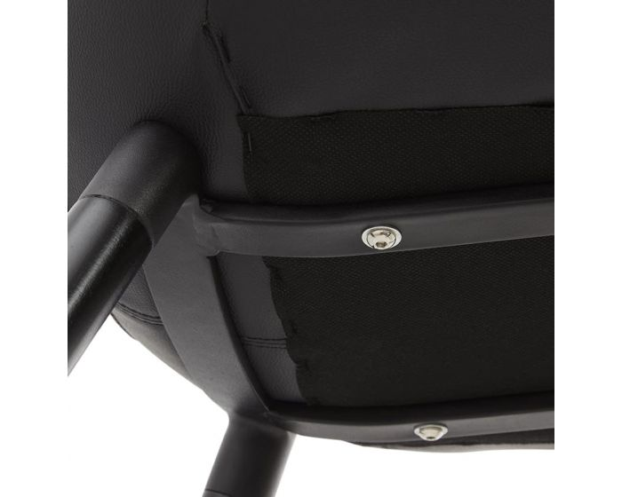 Gunilla Black PU Leather Designer Chair
