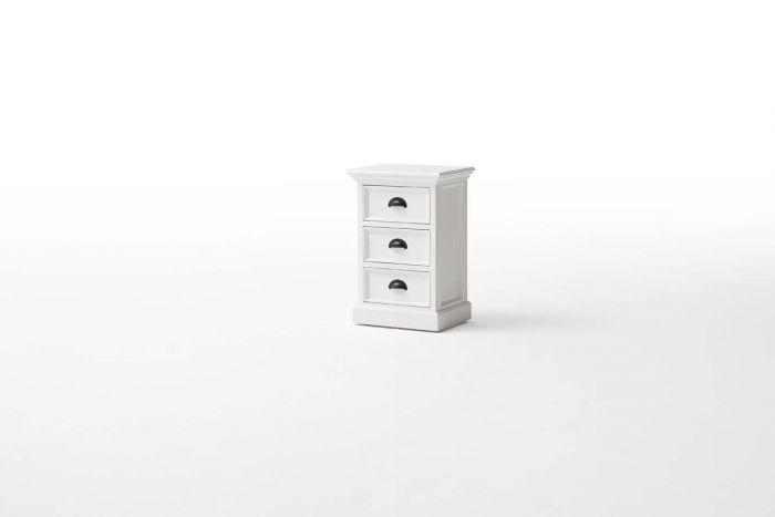 Halifax White 3 Drawer Bedside Unit
