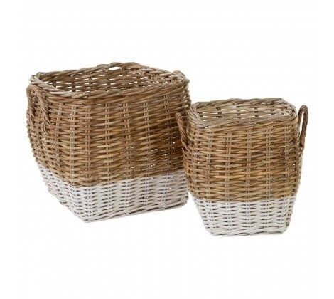 Hampton Rattan Storage Trunks - Set of 2