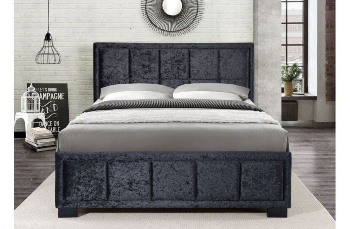Helen Fabric Steel Or Grey Bed Frames