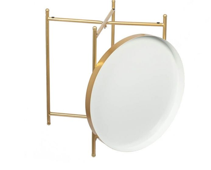 Hendra Gold and White Side Table