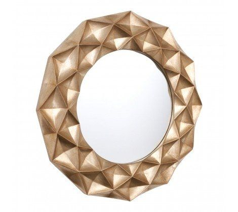 Hexa Gold Finish Wall Mirror