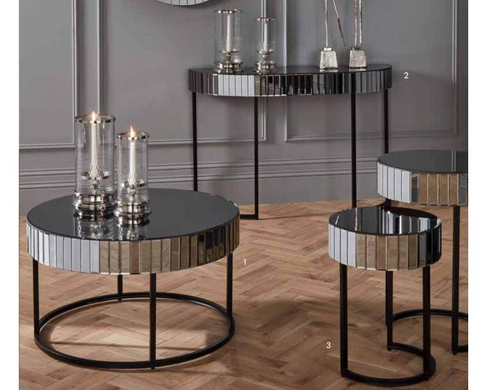 Hollywood Smoked Mirrored Coffee Table