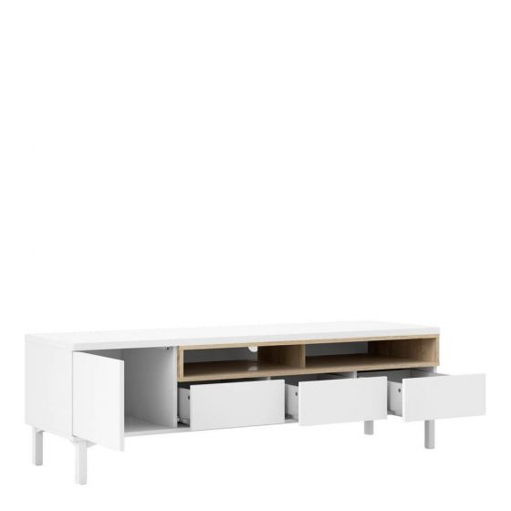 Homer 3 Drawer TV Unit - Black or White