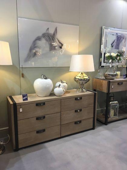 Hudson Natural Wood Bedside Cabinet