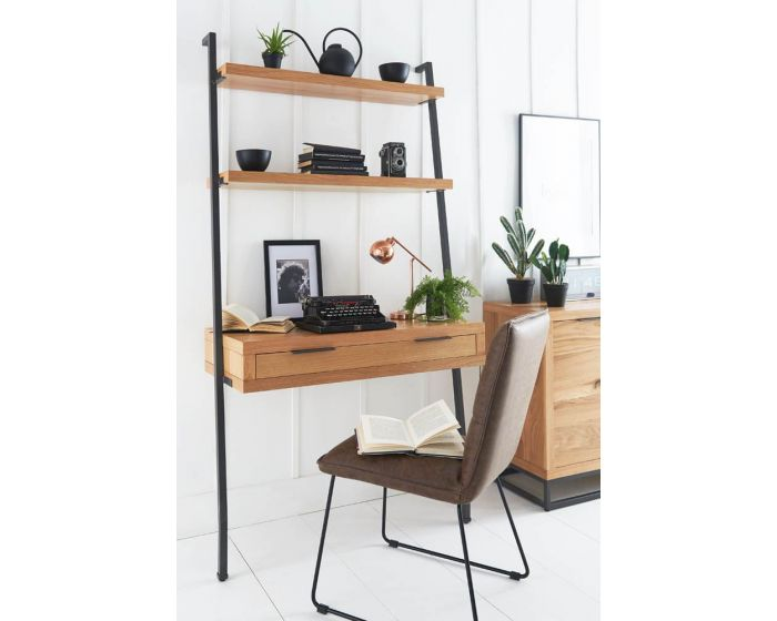 Iestyn Office Desk with Shelves