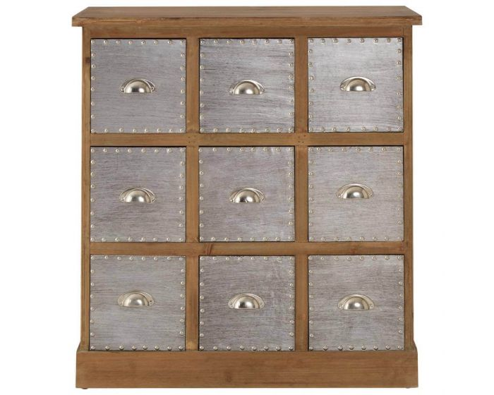 Industrial Natural Grain Aluminium Cabinet