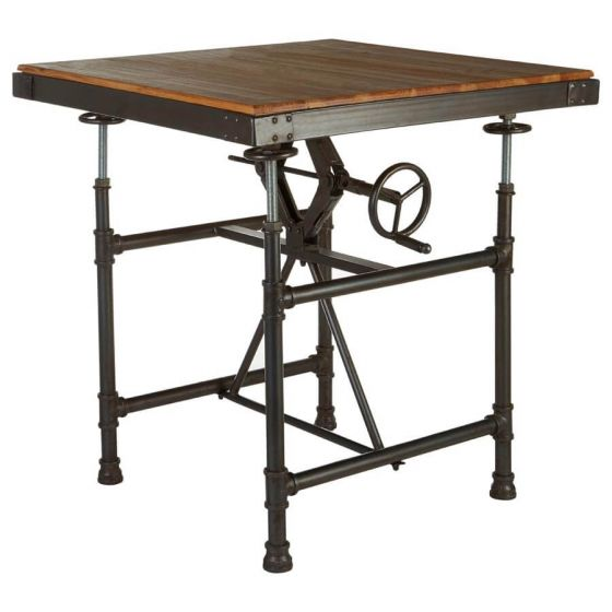 Industrial New Edition Adjustable Dining Table
