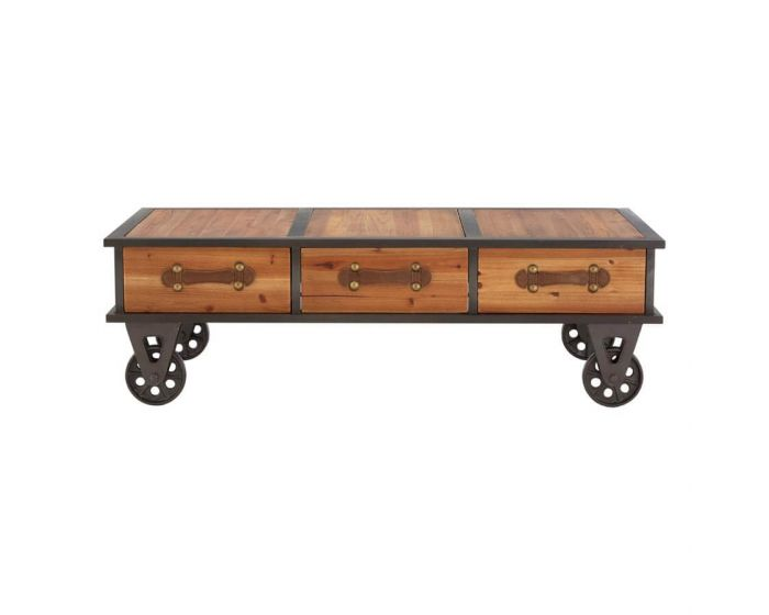 Industrial New Edition Coffee Table on Wheels