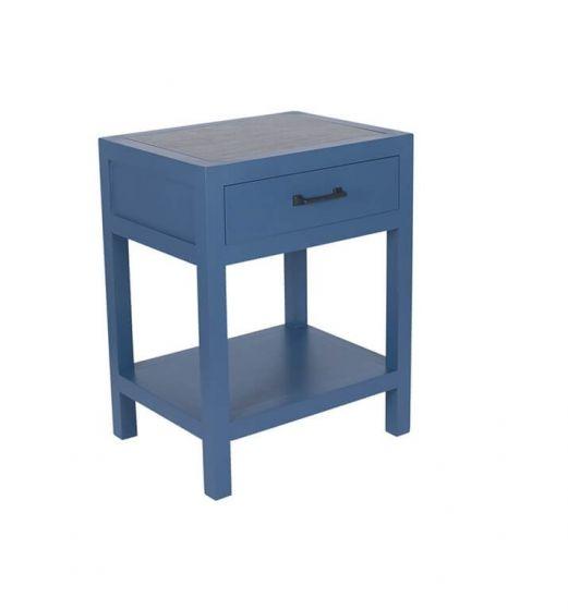 Indigo & Gunmetal Bedside Side Table