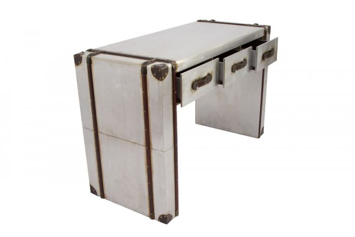 Industrial Aluminium Strapped 3 Drawer Console/Dresser