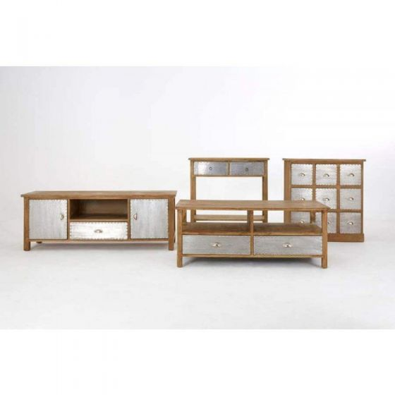 Industrial Natural Grain Aluminium Tv Unit