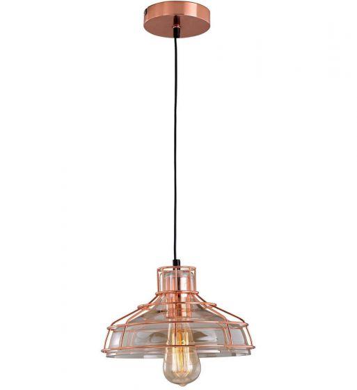 Industrial Wire Copper Pendant