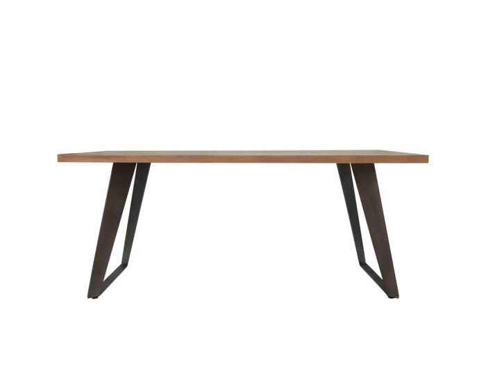 Irina Aged Grey Fixed Top Dining Table