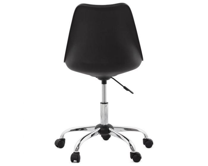 Isabella Black Padded Faux Leather Office Chair