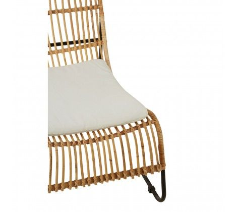 Java Natural Lounge Chair and Footstool