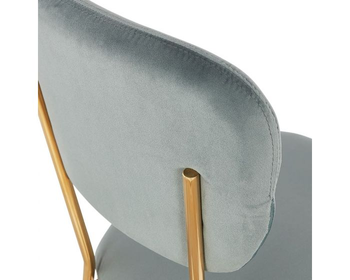 Joacim Chic Blue and Gold Metal Chair
