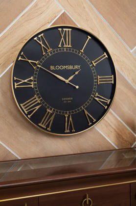 Josefina Large Black Wall Clock