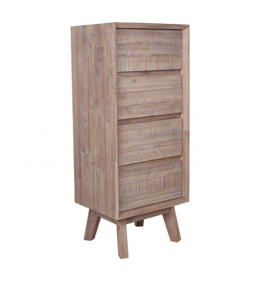 Kalm Sand Wash 4 Drawer Tallboy