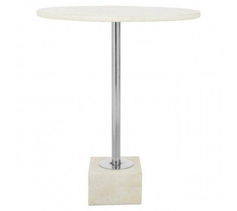 Karolina White Marble Side Table