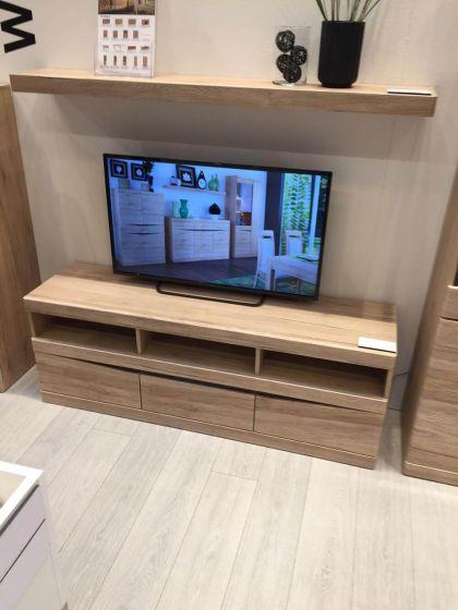 Kensington Wide 3 Drawer Tv Unit In Oak