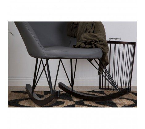 Kolding Dark Grey Rocking Chair