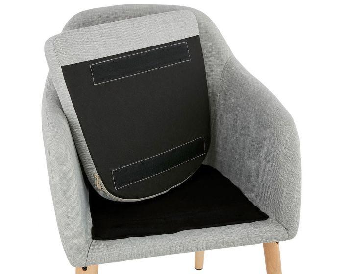 Kristina Light Grey Fabric Arm Chair